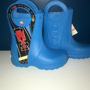 ☔️NWT Race Car Crocs Rain Boots☔️